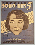 Click here to enlarge image and see more about item 5587: Popular Song Hits - June 1935 - Ruby Keeler