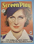 Screen Play Magazine Cover - April 1934 - Norma Shearer