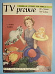 Click here to enlarge image and see more about item 6664: TV Prevue - April 6-12, 1958 - Kathleen Murray