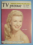 Click here to enlarge image and see more about item 6668: TV Prevue - April 20-26, 1958 - Nan Leslie