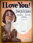 Sheet Music For 1923 I Love You! (Little Jessie James)