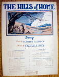 Click to view larger image of Sheet Music For 1925 The Hills Of Home (Image1)