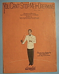 Sheet Music/1937 You Can't Stop Me From Dreaming-Friend