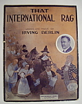 Click here to enlarge image and see more about item 6851: Sheet Music For 1913 That International Rag