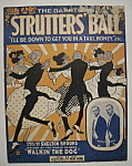 Click here to enlarge image and see more about item 6852: Sheet Music/1917 The Darktown Strutter's Ball By Brooks