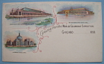 1893 Columbian Exposition Greetings Postcard