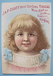 1893 Columbian Exposition J & P Coats Trade Card