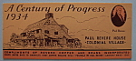 Click to view larger image of 1933 Century Of Progress Souvenir Card (Image1)