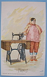 1893 Columbian Exposition Singer Trade Card-Tunis Woman