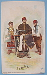 1893 Columbian Exposition Singer Trade Card (Servians)