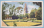Click here to enlarge image and see more about item 7016: 1935 California Pacific Expo Alcazar Gardens Postcard