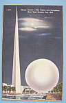 Click to view larger image of Trylon & Perisphere Postcard (New York World's Fair) (Image1)