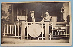 Click here to enlarge image and see more about item 7055: Man & Woman On Train Picture Postcard (Riverview Park)