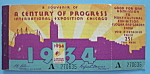Click to view larger image of 1934 Century Of Progress Admission Ticket Booklet (Image1)