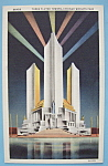 Click to view larger image of Postcard Of Three Fluted Towers (Century Of Progress) (Image1)