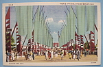 Avenue Of Flags at Chicago World's Fair Postcard (1933)