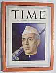 Click here to enlarge image and see more about item 7292: Time Magazine - October 17, 1949 - Nehru