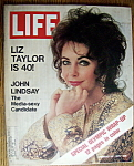 Click to view larger image of Life Magazine-February 25, 1972-Elizabeth Taylor (Image1)