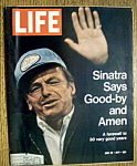 Click here to enlarge image and see more about item 7830: Life Magazine - June 25, 1971 - Frank Sinatra