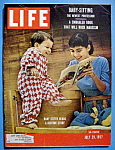 Click here to enlarge image and see more about item 7847: Life Magazine - July 29, 1957 - Baby Sitting