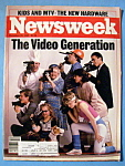 Newsweek Magazine -December 30, 1985- Video Generation