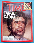 Time Magazine-April 21, 1986-Target Gaddafi