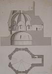 Chapelle Funeraire, A Montmorillon  (1852 Lithograph)
