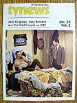 Click to view larger image of TV News - Jan 26-Feb 2, 1974 - The Odd Couple (Image1)