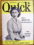Click to view larger image of Quick Magazine-Sept 11, 1950-Princess Margaret Rose (Image1)