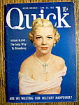 Quick Magazine-April 23, 1951-Vivian Blaine