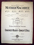 Sheet Music of 1910 Mother Machree