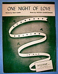 Sheet Music Of 1934 One Night Of Love