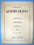 Sheet Music For 1950 Autumn Leaves