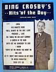 Click to view larger image of Sheet Music For 1947 Bing Crosby's Hits Of The Day (Image1)