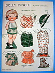 Click here to enlarge image and see more about item 8657: Dolly Dingle Paper Doll - April 1933