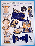 Click here to enlarge image and see more about item 8659: Dottie Darling Paper Doll - October 1933