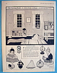 Click here to enlarge image and see more about item 8665: Living Room Of Sunshine Cottage Cut Out - May 1924