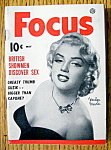 Click to view larger image of Focus Magazine May 1953 Marilyn Monroe (Image1)