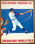 Chicago Cubs Official Program 1978 San Diego Padres