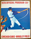 Chicago Cubs Official Program 1978 Pittsburgh Pirates