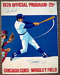 Chicago Cubs Official Program 1978 Signed