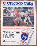 Chicago Cubs Official Scorecard 1989 Pittsburgh
