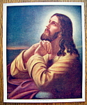 Click to view larger image of Lithograph Of Our Lord On Mount Of Olives 1920 W.C. Co. (Image1)