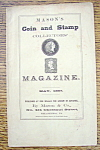 Click here to enlarge image and see more about item 8986: Mason's Coin & Stamp Magazine - May 1867
