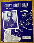Sheet Music For 1950 Count Every Star