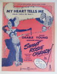 Click to view larger image of Sheet Music For 1943 My Heart Tells Me (Sweet Rosie) (Image1)
