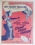 Click to view larger image of Sheet Music For 1943 My Heart Tells Me (Sweet Rosie) (Image2)