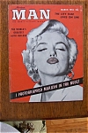 Click here to enlarge image and see more about item 931: Vintage Modern Man - March 1955 - Marilyn Monroe Cover