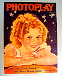 Click here to enlarge image and see more about item 9364: Photoplay Magazine Cover January 1935 Shirley Temple