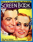 Screen Book Magazine Cover Sep 1936 J Crawford/R Taylor